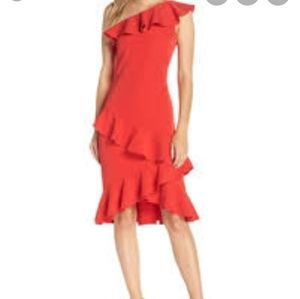 Vince Comuto ruffled off-theshoulder dress size 10